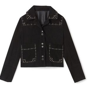 Rebecca Minkoff Black Suede Arnie Leather Jacket